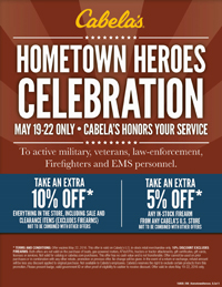 Cabela's Hometown Heroe's Event
